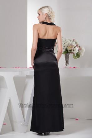 Sexy Black Halter Evening Dress Prom Gown Maxi Dresses