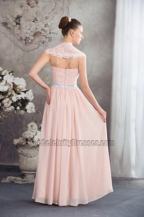 Sexy Deep V-Neck Full Length Chiffon Evening Dress Prom Gown
