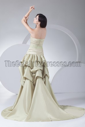 Sexy Strapless High Low Formal Pageant Dress Prom Gown