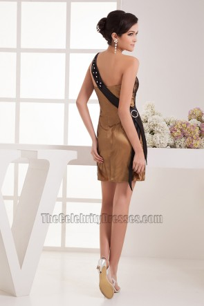 Sheath/Column Beaded One Shoulder Party Homecoming Dresses