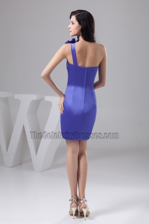 Sheath/Column One Shoulder Party Cocktail Graduation Dresses