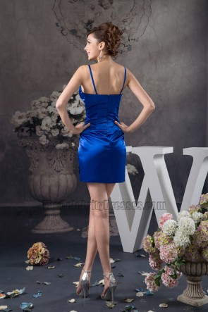 Sheath/Column Royal Blue Party Homecoming Dresses