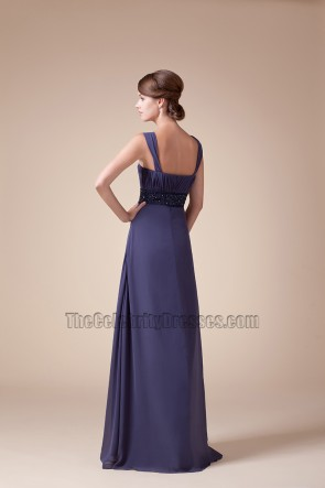 Square Neckline Chiffon Bridesmaid Prom Dresses