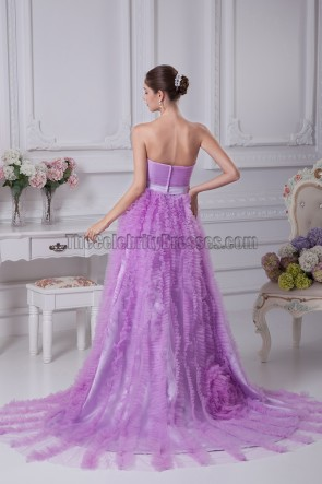 Strapless Sweetheart A-Line Tulle Formal Dress Prom Gown