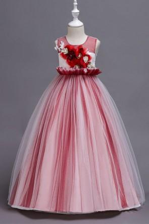 A-line Applique Junior Bridesmaid Dress