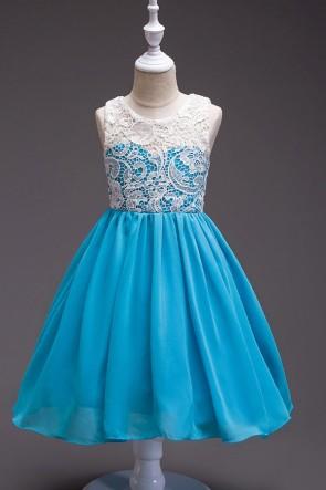A-line Chiffon Lace Flower Girl Dress