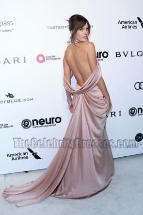 Alessandra Ambrosio Robe du soir 25e cérémonie annuelle de la Fondation Elton John AIDS