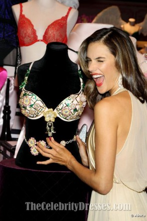 Alessandra Ambrosio Sexy Halter Evening Gown Prom Dresses
