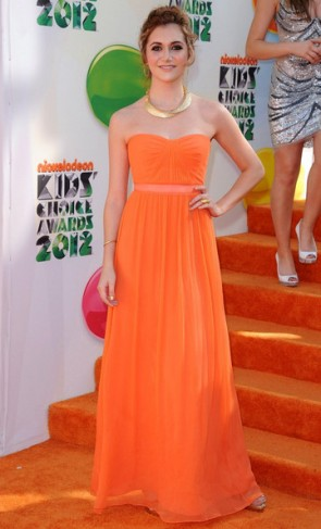Alyson Stoner Orange Prom Dress Kids' Choice Awards 2012 Celebrity Dresses