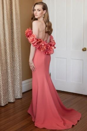 Marilyn Monroe Robe formelle orange en messieurs préfèrent les blondes