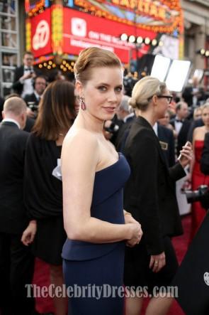 Amy Adams Strapless Formal Dress Oscars 2014 Red Carpet