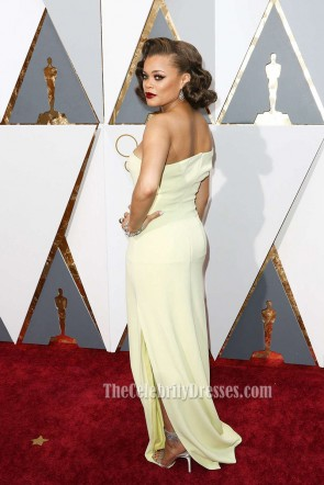Andra Day 88e cérémonie des Oscars Off-the-épaule soirée bal de fin d'année 2016 Oscars