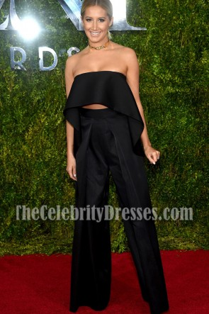 Ashley Tisdale Black Suit Two Pieces Outfit Tony Awards 2015-2