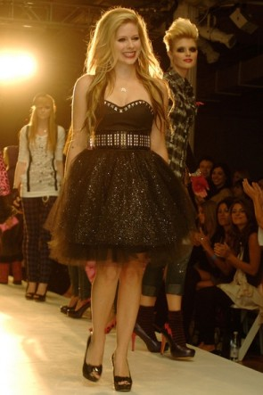 Avril Lavigne Black Glitter Sparkly Short Cocktail Dress