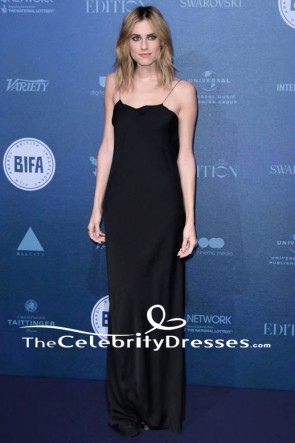 Allison Williams Robe de soirée noire British Independent Film Awards 2017