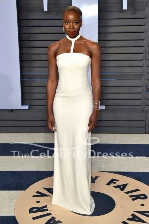 Danai Gurira blanc Halter robe de soirée 2018 Oscar Party Dress