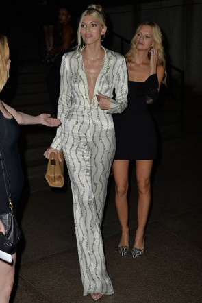 Devon Windsor Sexy Deep V-Neck Long Sleeve Jumpsuits TCDXH8404