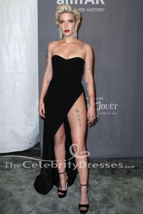 Halsey Sexy Noir robe de soirée 2018 amfAR Gala New York robe