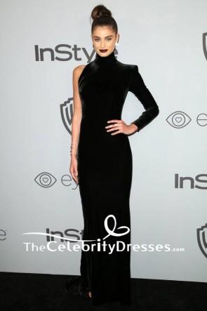 Taylor Hill 2018 Golden Globe Awards de HBO après une soirée robe de soirée une manche