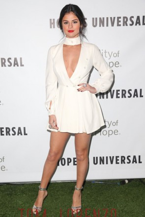 Selena Gomez Mini-robe de soirée City of Hope 2015 Spirit of Life Gala