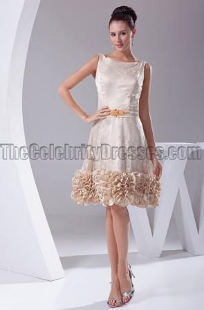 A-Line Knee Length Graduation Cocktail Party Dresses