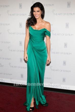Angie Harmon Robe de soirée verte Art of Elysium HEAVEN Gala Tapis rouge