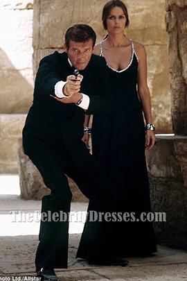 Barbara Bach Black Prom Dress 1977's The Spy Who Loved Me 007