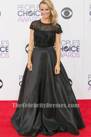 Robe noire perlée Brooke Anderson People's Choice Awards 2015