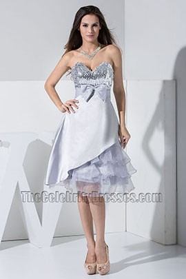 Celeb New Style Short A-Line Silver Party Dress Homecoming Dresses