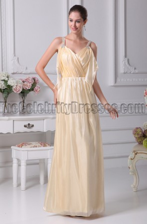 Celebrity Inspired Daffodil Prom Gown Evening Dresses