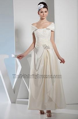 Celebrity Inspired Off-the-Shoulder A-Line Wedding Dress