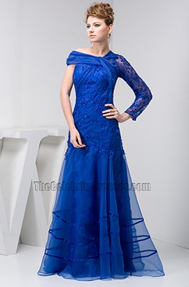 Celebrity Inspired Royal Blue A-Line Formal Gown Prom Dresses