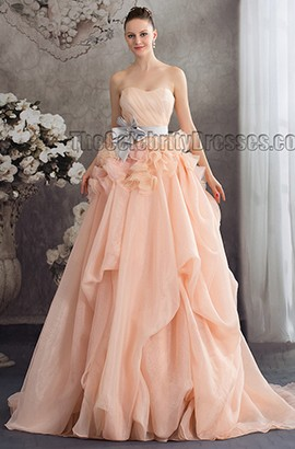 Celebrity Inspired Strapless A-Line Formal Dress Pageant Gowns