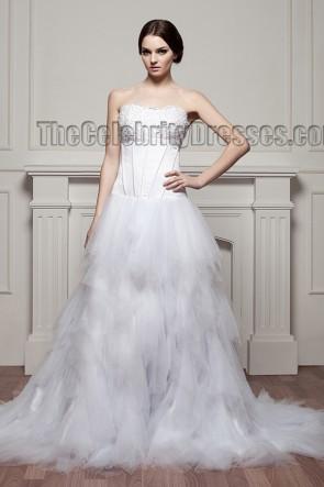 Celebrity Inspired Strapless A-Line Tulle Wedding Dresses