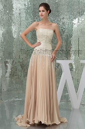Celebrity Inspired Strapless Formal Dress Prom Evening Gown