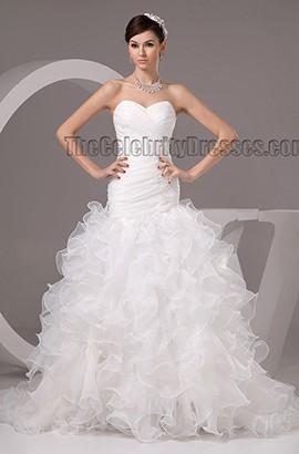 Celebrity Inspired Strapless Trumpet /Mermaid Wedding Dresses
