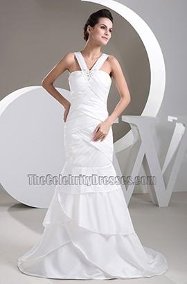 Celebrity Inspired Trumpet /Mermaid Taffeta Wedding Dress