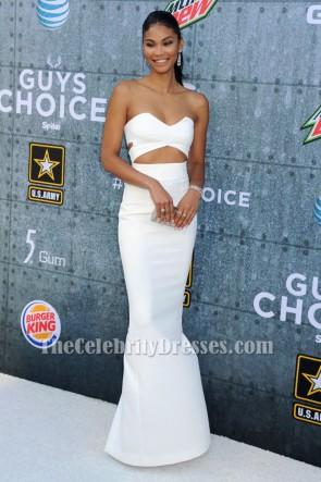 Chanel Iman Ivoire Découpez robe de soirée 2015 Spike TV 'Guys Choice Awards