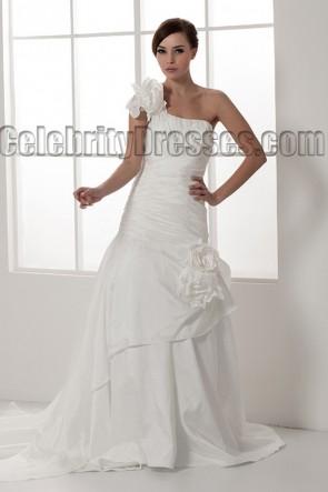 Chapel Train Trumpet/Mermaid One Shoulder Wedding Dresses