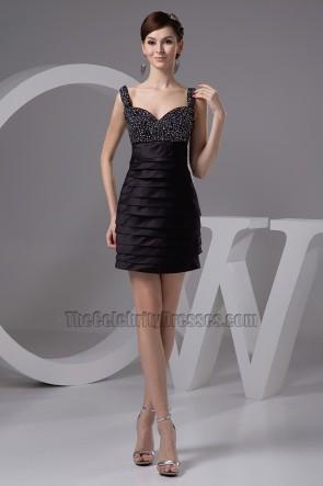 Short Mini Beaded Little Black Dresses