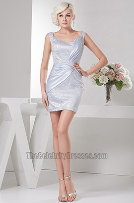 Chic Sheath/Column Silver Short Mini Party Homecoming Dresses