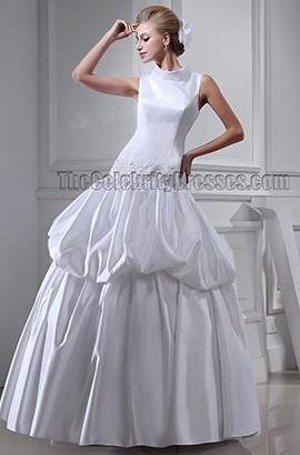 Chic Sleeveless Ball Gown Floor Length Wedding Dresses