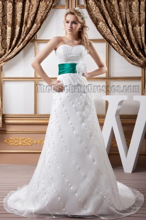 Chic Strapless Beaded Sweetheart A-Line Wedding Dresses