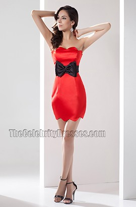 Chic Strapless Short /Mini Party Homecoming Dresses