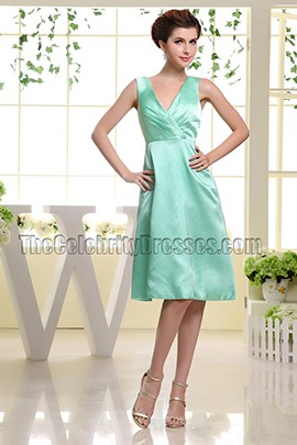 Mint Knee Length Cocktail Homecoming Party Dresses