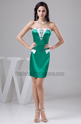 White And Hunter Strapless Beaded Party Homecoming Dresses