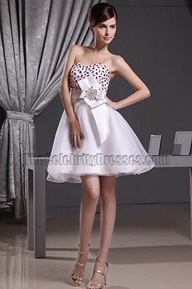 Cute Sweetheart A-Line Beaded Party Dress Homecoming Dresses