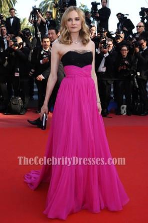 Diane Kruger longue robe formelle sans bretelles 63e annuelle robe de tapis rouge du Festival de Cannes