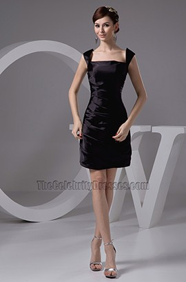 Discount Short Black Cocktail Homecoming Party Dresses
