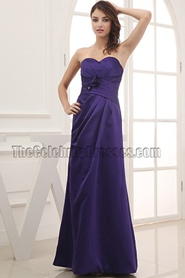 Discount Strapless Sweetheart Prom Gown Bridesmaid Dresses